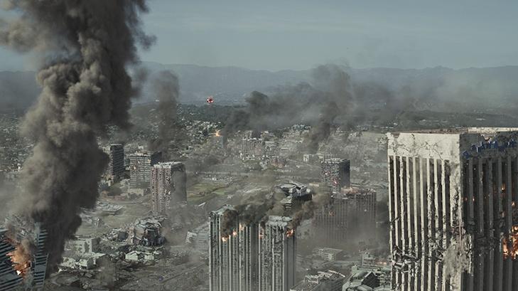 Bildergebnis für la downtown after earthquake images