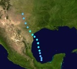 Tropical Storm Barry (2019 - Track)