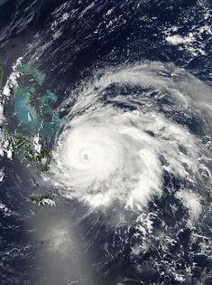 Hurricane Ike approaching Cuba
