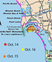 Coronado Fire Map
