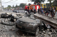 Crushed cars in Cavite