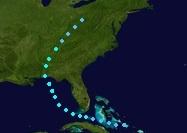 Tropical Storm Richard (2016 - Track)