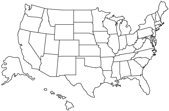 Image Hypothetical US Election Mappng Hypothetical Events - Blank us map png