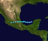 Tropical Storm Claudette (2021 - Track)