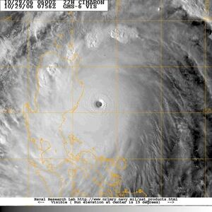 Typhoon 22W (Cimaron) 2006-10-29 06-00.jpg