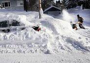 Deep Snow and Snow Blower
