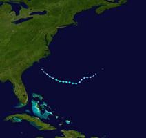 Subtropical Storm Arthur (2018) Track