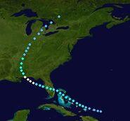 Hurricane Imelda (2025 - Track)
