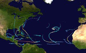 20199 Atlantic hurricane season summary map