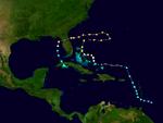 Hurricane Nadine 2013 Path.png
