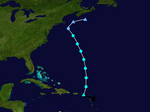 Tropical Storm Amy storm track.png