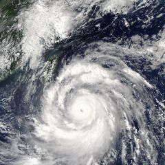 typhoon Meranti at peak intensity on September 12, 2016