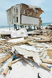 Beach front home damaged by hurricane dennis 2005