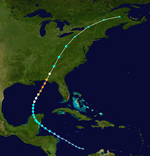 Hurricane Karen Track (2019 - Cooper)