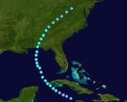Tropical Storm Caroline (2039 - Track - For Steven)