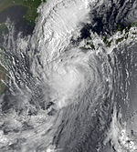 Typhoon Orchid sept 10 1980 2312Z