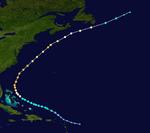 Hurricane Chantal Track (2019 - Lucarius)