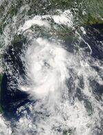Aqua image of tropical storm bill