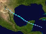 Tropical Storm Gabrielle Track (2019 - Vile)