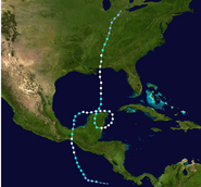 Hurricane Rosa-Ernesto (2012 - Track)