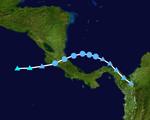 Tropical Depression 14L Track (2019 - Garfield)
