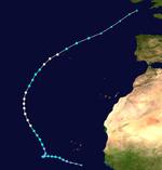Hurricane Humberto Track (2019 - Vile)
