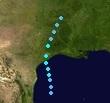 Tropical Storm Lorenzo (2025 - Track)