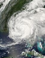 Hurricane Frances Over Florida Panhandle