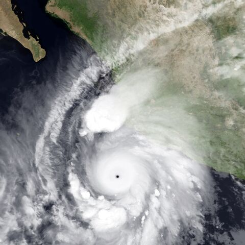 Patricia near peak intensity on October 23, 2015