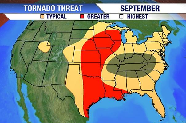 Image - Tornado Risk Area (September).jpg | Hypothetical Tornadoes ...