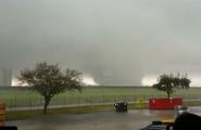 2017 New Orleans tornado over Michoud area