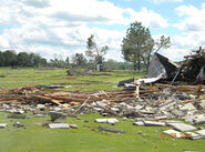 Golf course tornado damage