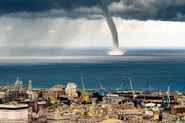 Tornadic waterspout off Italian coast