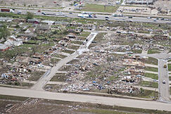 Aerial view of 2013 Moore tornado damage