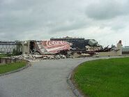 Cindy damage at Atlanta Motor Speedway