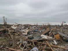 EF5 tornado damage example