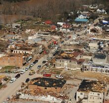 March 02, 2012 West Liberty, KY Aerial Tornado Damage 2-0
