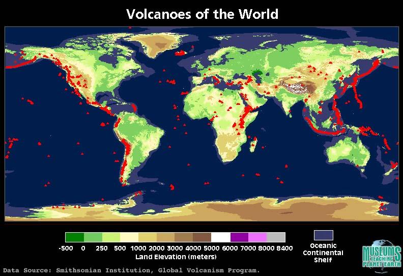 world volcano mapjpg
