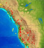 Western North America Volcanoes