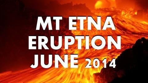 Powerful Mount Etna Eruption Sicily Airport Closed JUNE 2014