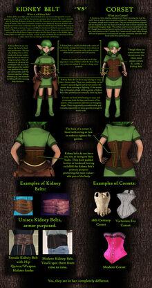 Corset vs kidney belt by undyingnephalim-d8xhyou