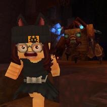 Player running from scarak