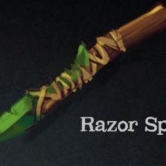 A Kweebec razor spear