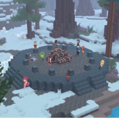 A snowy Hunger Games map