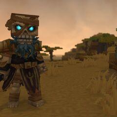 A skeleton warrior in zone 2.