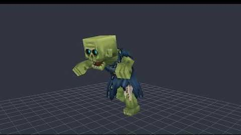 Hytale Model Maker - Zombie Animation Timelapse