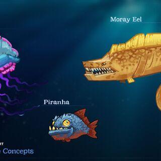 Concept Art życia morskiego