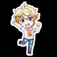 (Birthday T-Shirt) Seiya Aido SD Jump