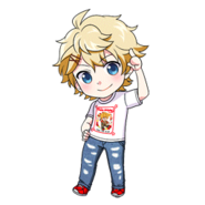 (Birthday T-Shirt) Seiya Aido SD Pose