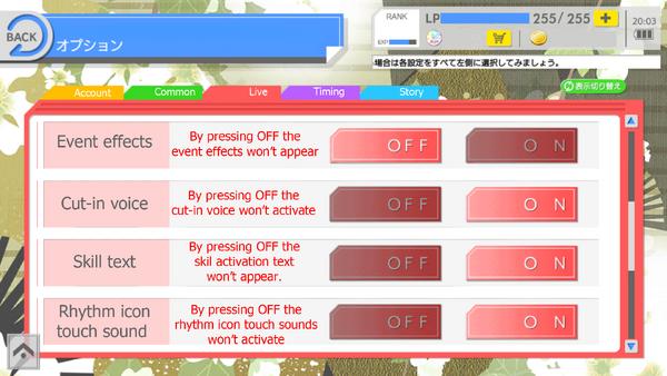 Live options 2